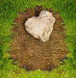 Stone heart . Royalty Free Stock Photography