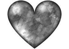 Stone hearth. Grey scale stone textured heart Stock Photos