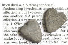 Stone hearts Stock Images