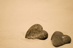 Stone Hearts Stock Image