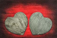 Stone Hearts Royalty Free Stock Image