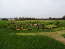 Stone Henge. Standing stones set as a place of worship and religion in Milton Kynes royalty free stock photography