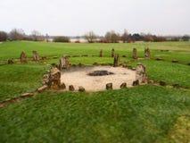 Stone Henge Milton Keynes. Standing stones set as a place of worship and religion in Milton Kynes stock image