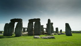 Stone henge monolithic stones england. The iconic and world famous stone henge monolithic site in wiltshire, england stock footage