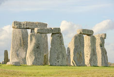 Stone henge view of standing stones Royalty Free Stock Photos