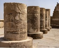 Stone Hieroglyphic Carvings at Kom Ombo Temple. Near Luxor royalty free stock image