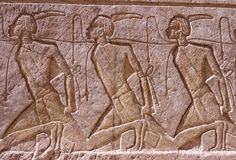 Stone Hieroglyphic Carvings at Kom Ombo Temple. Near Luxor royalty free stock photography