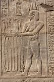 Stone Hieroglyphic Carvings at Kom Ombo Temple. Near Luxor stock photography