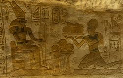 Stone Hieroglyphic Carvings at Kom Ombo Temple. Near Luxor royalty free stock photo