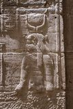 Stone Hieroglyphic Carvings at Philae Temple. In Jordan royalty free stock photo