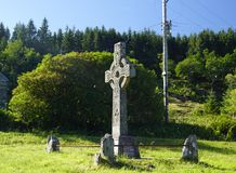 Stone high cross in Scotland. United Kingdom royalty free stock photography