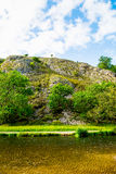 Stone Hills near River Dove in Peak District National Park Stock Photography