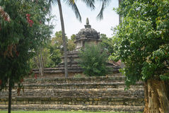 Stone hindu temple under trees in Kandy Stock Photography