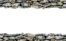 Stone Horizontal Frame. On white background Royalty Free Stock Photos