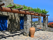 A stone house. A stone summer house in Greece stock image
