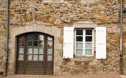 Stone house architecture Saint-Mamet-la-Salvetat royalty free stock images