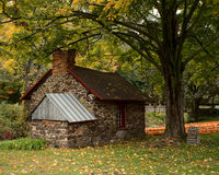 Stone House in Autumn Royalty Free Stock Images