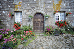 Stone house in brittany, France Stock Image