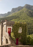 Stone house in colletta di castelbianco Royalty Free Stock Image