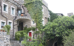 Stone house in colletta di castelbianco Royalty Free Stock Photos
