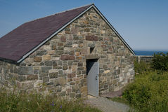 Stone house or cottage at signal hill. Close to cabot tower. nice stone texture Royalty Free Stock Photo