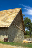 Stone house in the countryside. During the hot summer Royalty Free Stock Photography