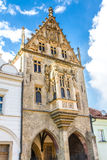 Stone House With Decorated Facade-Kutna Hora Stock Image