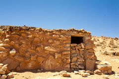 Stone house in desert Royalty Free Stock Photos