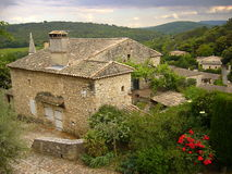 Stone house with distant look Royalty Free Stock Images
