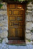 Stone house door Royalty Free Stock Photos