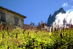 Stone house - French Alps. A stone house in the french Alps near Chamonix Royalty Free Stock Image