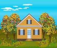 Stone house , illustration Royalty Free Stock Photo