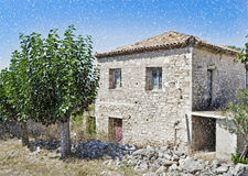 Stone house at Kalamata Peloponnese Greece Stock Photos