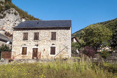 Stone house in La Madele Stock Photography