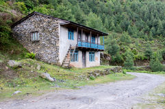 Stone House in the Mountains Royalty Free Stock Photo