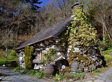 Stone house, old Stock Photo