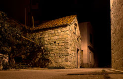 Stone house in old city night view Stock Images