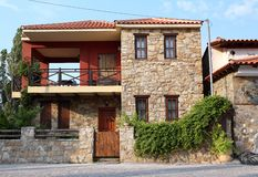 Stone house Parthenonas Greece Royalty Free Stock Photos