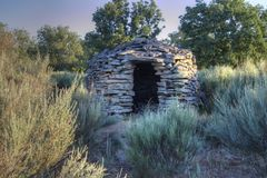 Stone house for pastors Royalty Free Stock Photography
