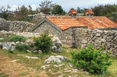 Stone house, Rudine, Krk island, Croatia Royalty Free Stock Images