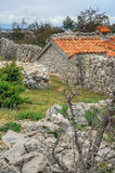 Stone house, Rudine, Krk island, Croatia Stock Photos