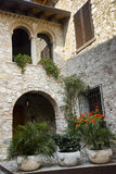 Stone house, Sirmione, Italy Royalty Free Stock Photography