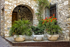 Stone house, Sirmione, Italy Stock Photo