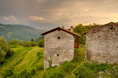 Stone house in the Soca Valley Royalty Free Stock Images