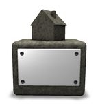 Stone house on socket Royalty Free Stock Images