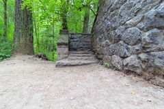 Stone House Steps at Wildwood Trail Royalty Free Stock Image
