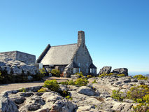 Stone house on Table Mountain(South Africa) royalty free stock photo