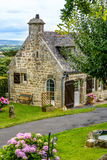 Stone House in traditional style in Brittany royalty free stock images