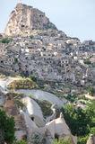 Stone houses in Cappadocia, Turkey Royalty Free Stock Photo