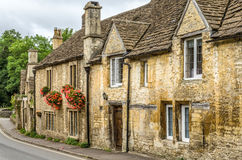 Stone houses in Castle Combe Village, Wiltshire, England Stock Photography